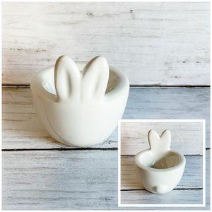 Easter egg bunny ceramic dish holder BP target